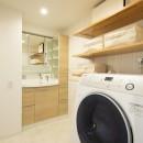 夫婦の「like」を詰め込んだ家の写真 洗面脱衣室