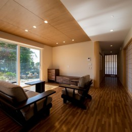 上士幌の家 (リビング)