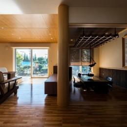 上士幌の家 (リビングと囲炉裏の部屋)