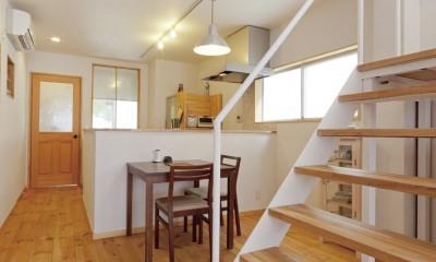 大阪府Sさん邸:中古リノベーションで開放感のある個性的な空間に (DK)