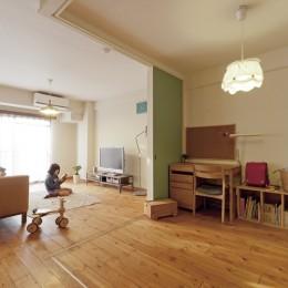 大阪府Tさん邸:子どもに目が届く家族がつながるリノベーション (子ども部屋1)