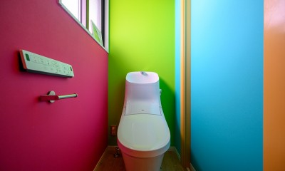 色で遊ぶ、趣味と暮らす家 (色で遊ぶトイレ)