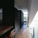 M HOUSE 狭小間口を活かした、道のような家の写真 ダイニング