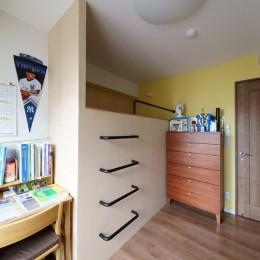 再販物件を部分リノベーション 理想のわが家の実現 (2段ベッドで間仕切りした子ども室)
