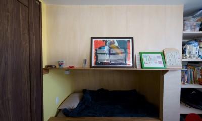 再販物件を部分リノベーション 理想のわが家の実現 (2段ベッドで間仕切られた子ども室)