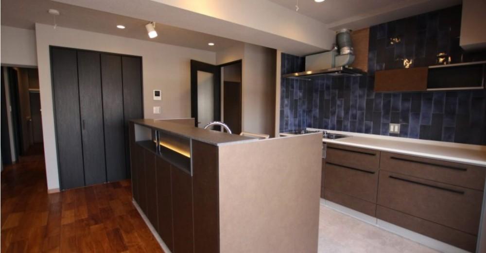 キッチン (ビンテージマンションに相応しいリノベーション~T様邸~)