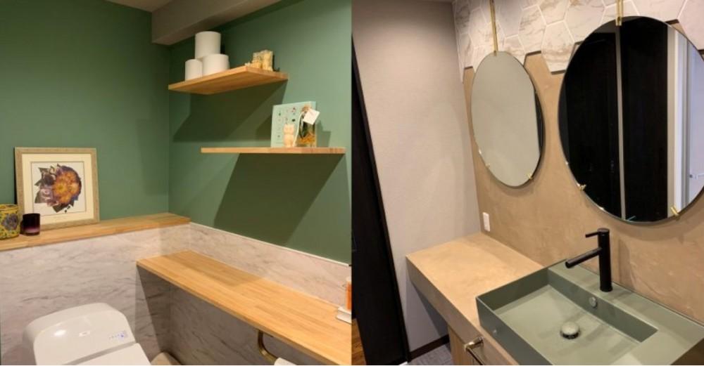 ビンテージマンションに相応しいリノベーション~T様邸~ (トイレ・洗面)