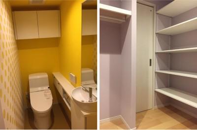 トイレ・WIC (生かす。色で遊ぶ。~N様邸~)