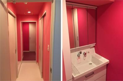 洗面室 (生かす。色で遊ぶ。~N様邸~)