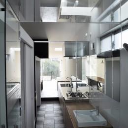 M HOUSE 狭小間口を活かした、道のような家 (バスルーム)