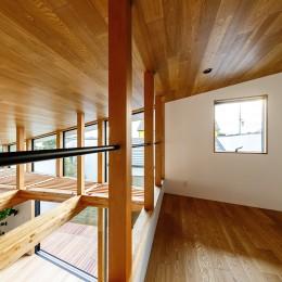 haus-cros / 十字フレームが印象付ける和洋折衷テイストの箱型中庭住宅 (haus-cros ロフト)
