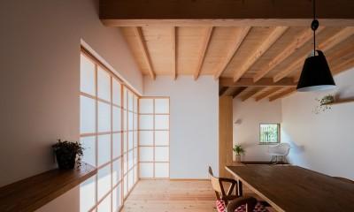 ダイニングから読書スペース|鎌ヶ谷の家D ー私だけの平屋ー