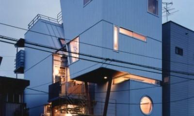 【相模原の動物病院】  人6人、犬3匹、猫10匹が住む高密度の建築 (外観)