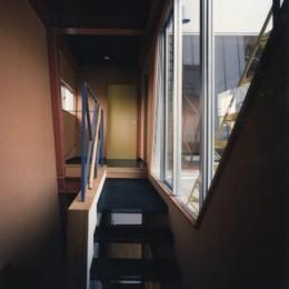【相模原の動物病院】  人6人、犬3匹、猫10匹が住む高密度の建築 (階段)