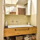 市ヶ谷 K邸 マンションリノベーションの写真 洗面室
