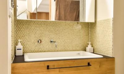 市ヶ谷 K邸 マンションリノベーション (洗面室)