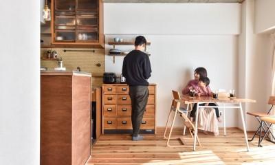 品川シーサイドH邸マンションリノベーション (リビングダイニング)