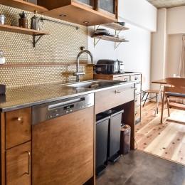 品川シーサイドH邸マンションリノベーション (キッチン)