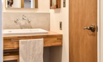 品川シーサイドH邸マンションリノベーション (洗面室)