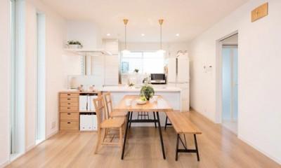 子どもに目が届くオープンキッチン スッキリ広々、子育てが楽しい家へ