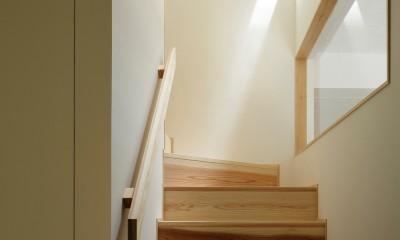 東五反田の住宅/ 空き家木造住宅のリノベーション (階段室)