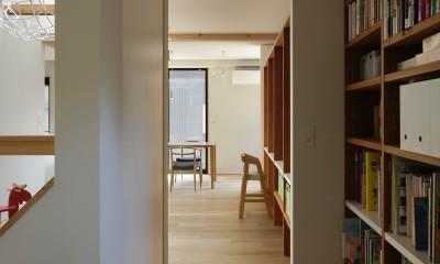 東五反田の住宅/ 空き家木造住宅のリノベーション (廊下とLD)