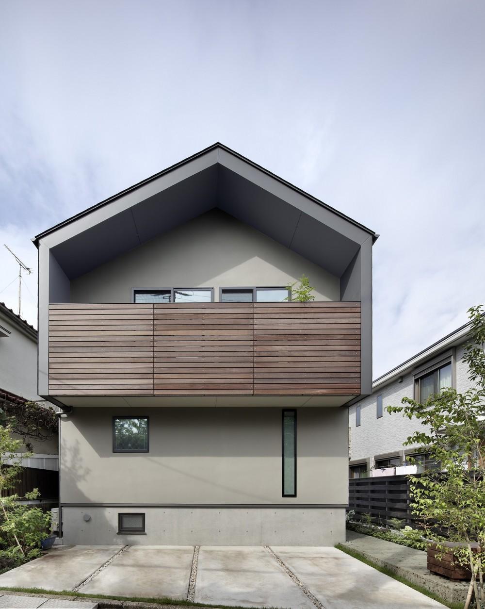 桜上水の住宅 / 半地下と屋上の効果 (外観)