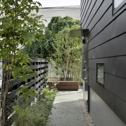 桜上水の住宅 / 半地下と屋上の効果
