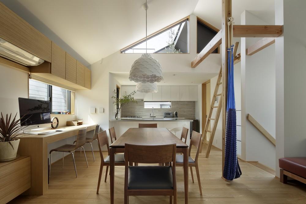 桜上水の住宅 / 半地下と屋上の効果 (DK)