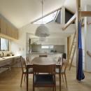 桜上水の住宅 / 半地下と屋上の効果の写真 DK
