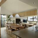 桜上水の住宅 / 半地下と屋上の効果の写真 ダイニングキッチン
