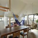 桜上水の住宅 / 半地下と屋上の効果の写真 リビングダイニング