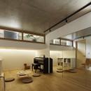 桜上水の住宅 / 半地下と屋上の効果の写真 多目的室