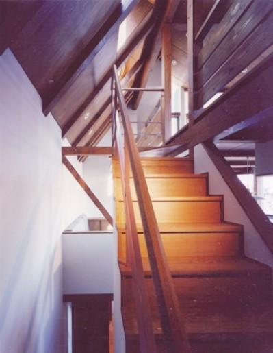 階段 (【市川の家】 光を求めて空へとのびるOMソーラーの家)