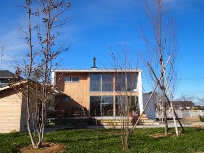 外観 (土間リビングの家|A house)