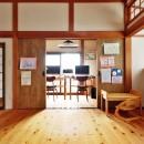 川崎市H様邸 ~レトロに家を育む~の写真 リビングと繋がるワークスペース