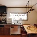 川崎市H様邸 ~レトロに家を育む~の写真 キッチンはヴィンテージな雰囲気を大切に