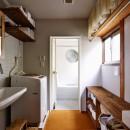川崎市H様邸 ~レトロに家を育む~の写真 浴室もヴィンテージ感たっぷり