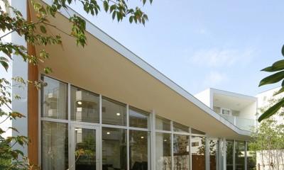 ねじれ屋根の家 - 弧を描く勾配天井 -