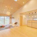 冬もぽかぽか平屋の家の写真 LDK
