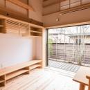 みはらしだいの家|三鷹市(半平屋の暮らし)の写真 リビング&造作家具