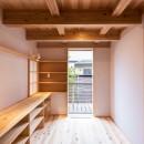 みはらしだいの家|三鷹市(半平屋の暮らし)の写真 ワークテーブルのある書斎
