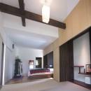3断面の家 - 寒冷地のコンパクト住居の写真 リノベーション後の寝室と和室