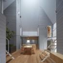 岩倉の家 / 閉じて開放感を得るトップライトハウスの写真 LDK