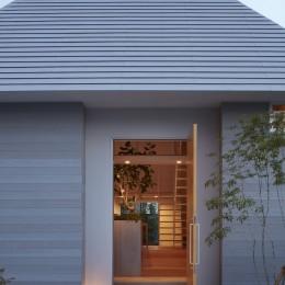 岩倉の家 / 閉じて開放感を得るトップライトハウス (外観)