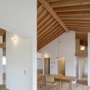 守山の家/大屋根に包まれた平屋の住まいの写真 居間