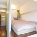 I邸-コンパクトな間取りでも収納はたっぷり。私らしい一人暮らしの住まいの写真 ベッドルーム