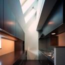 【フラッツS - 親の家】 都心の山岳都市住宅の写真 キッチン