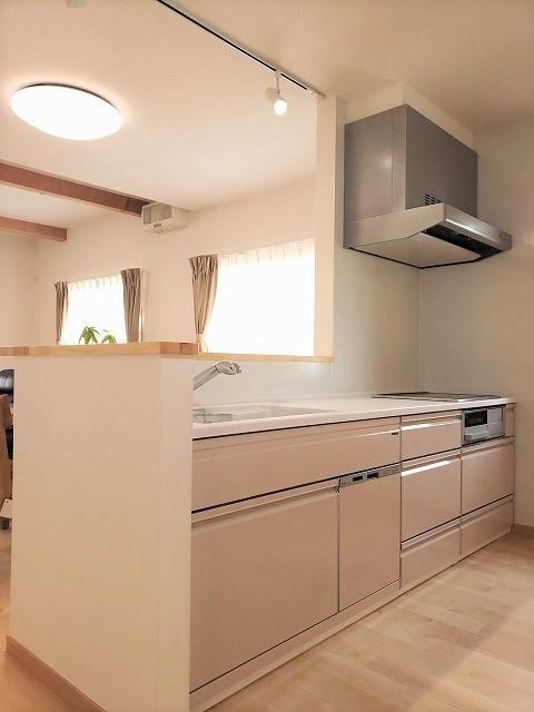 キッチン事例:キッチン(気持ちゆったり広々リビング空間)
