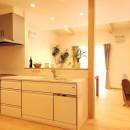 家族が共に過ごす包容力のある住まいの写真 キッチン